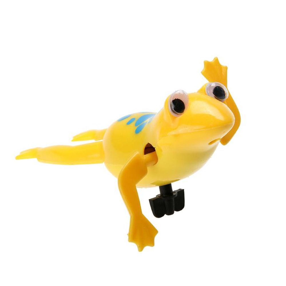 2018 Baby Kids Bath Toy Clockwork Wind Up Plastic Swimming Frog In ...