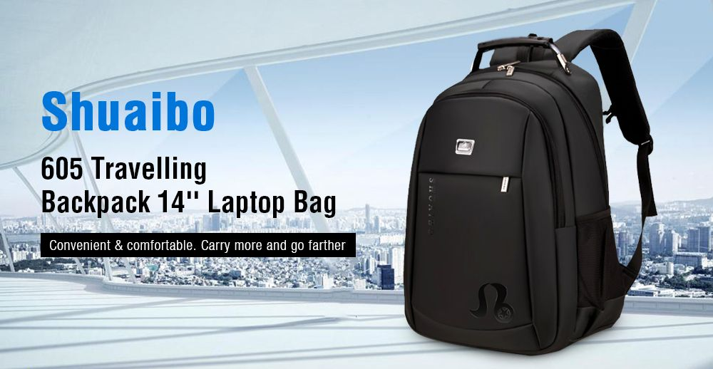 68a4702c99 2019 Shuaibo 605 Large Capacity School Bag   Travelling Backpack ...
