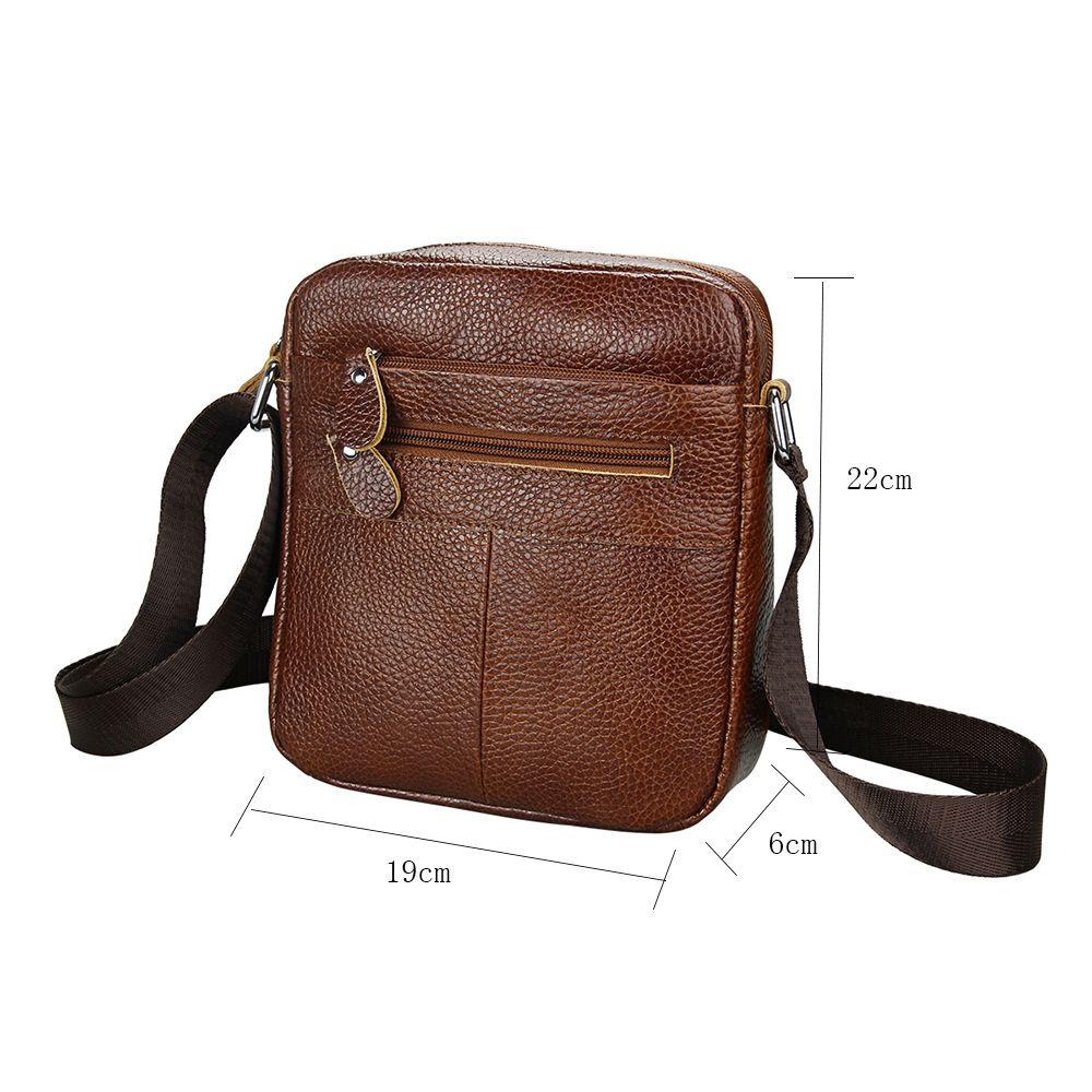Men Crossbody Bag Genuine Leather Messenger Bag Business Male Shoulder Bag 503e1c60fc340