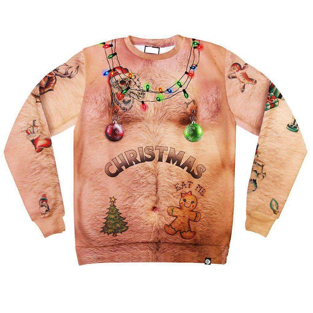 bc779a236d0e 2019 Print Christmas Men s 3d Long Sleeve T-shirt