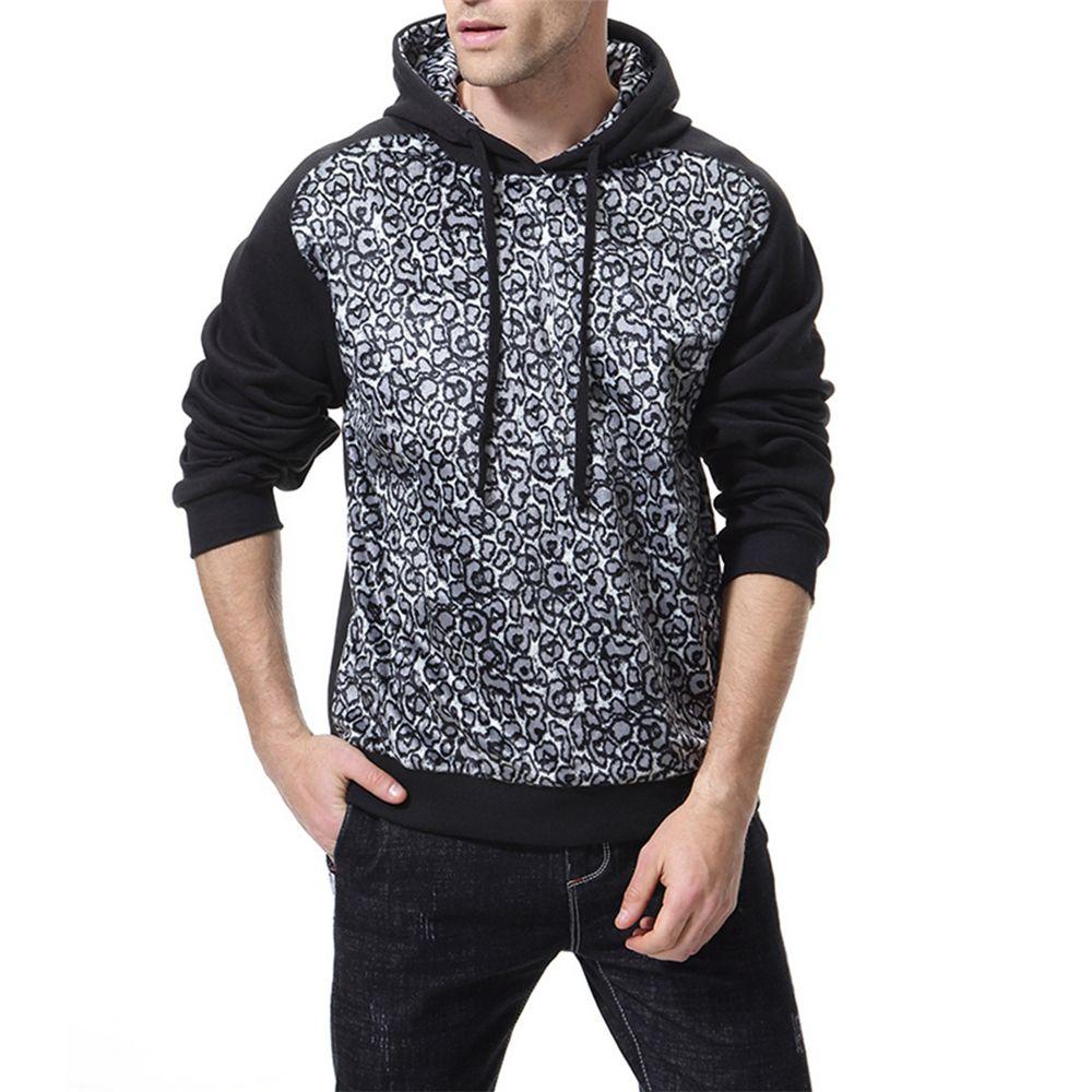 2d157a9e770d [41% OFF] Man Sweater Leopard Print Leisure Time Hoodie Motion Coat |  Rosegal