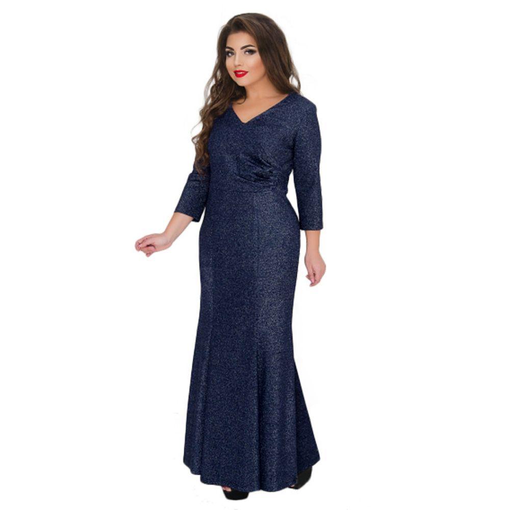 c227c3a4567 2019 Winter Long Dress Women Autumn Large Big Size Evening Party Mermaid