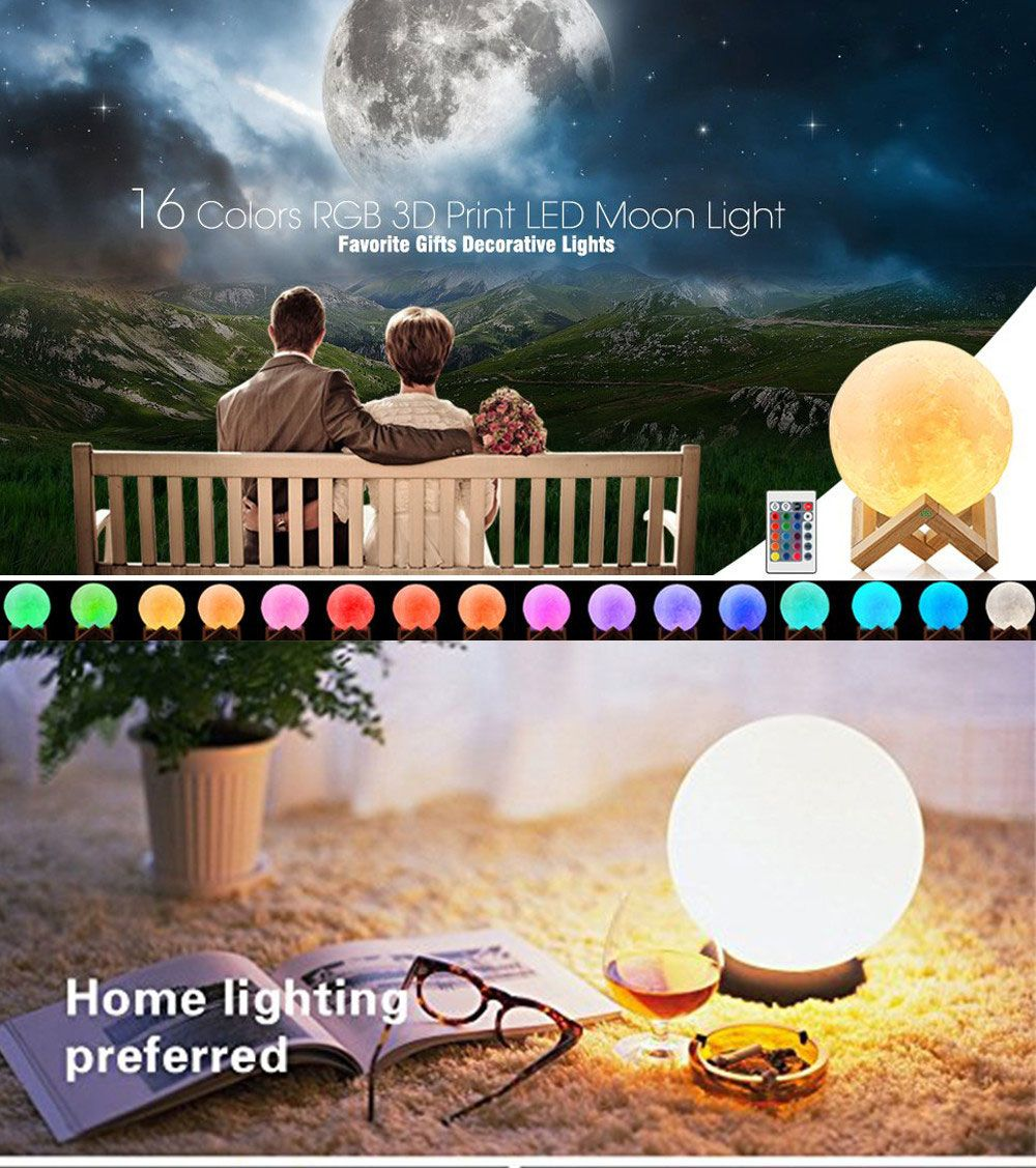 43 off 2018 ywxlight 15cm 3d printing led moonlight touch switch