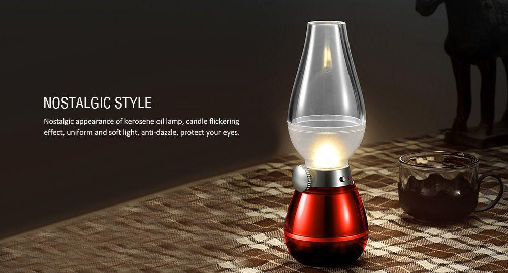 Retro Lampen Led : 2019 led night light blowing control retro kerosene lamp rosegal.com