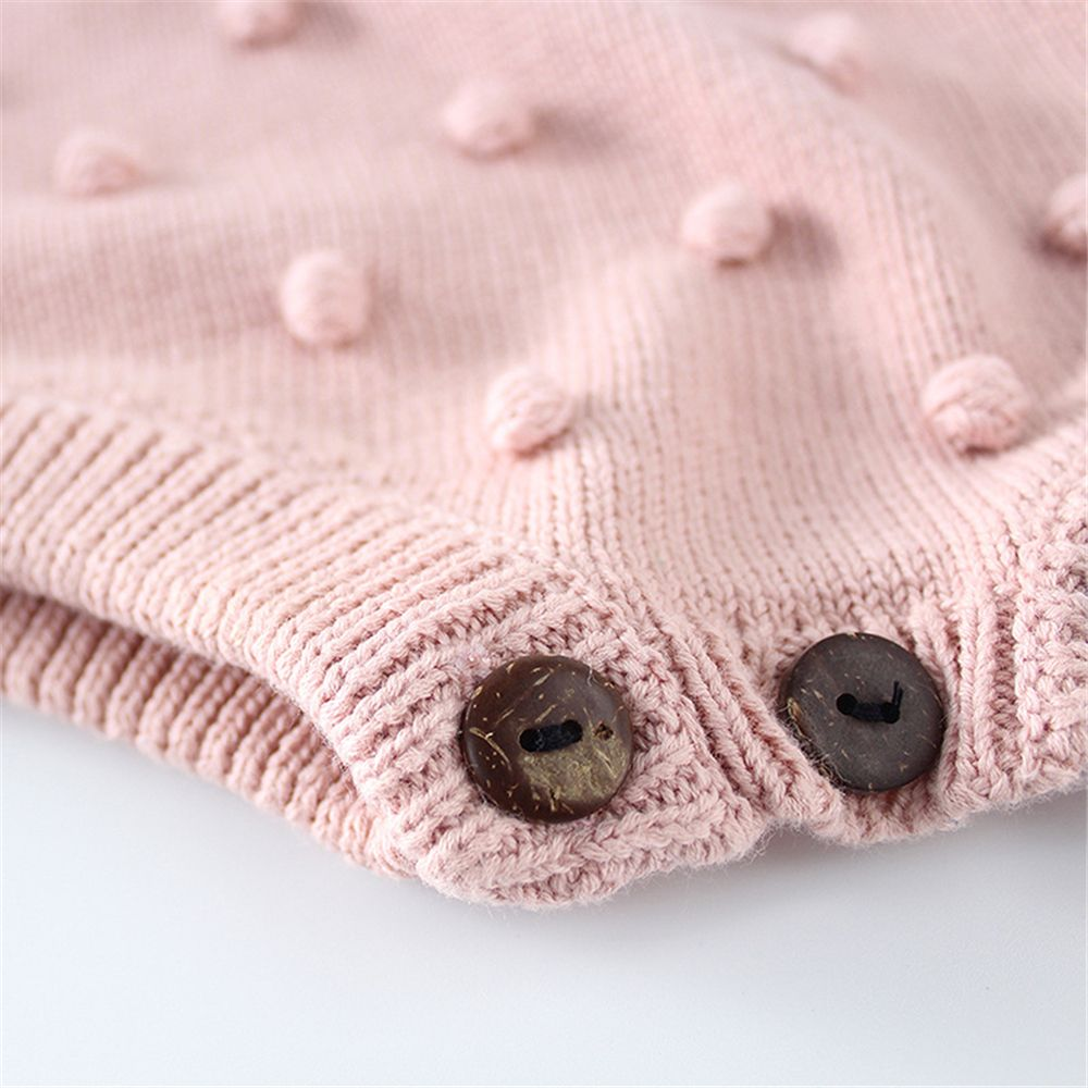 602d12aa54c0 2019 Baby Girl Knitted Clothes Autumn Knit Baby Rompers Girl Pompom ...