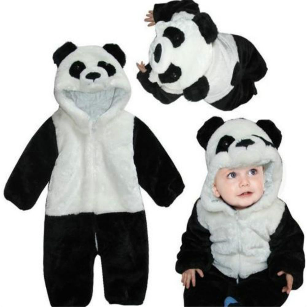 c2e17e5f5d 2019 Baby Animal Romper Outfits Cute Panda Jumpsuit Playsuit Costume ...