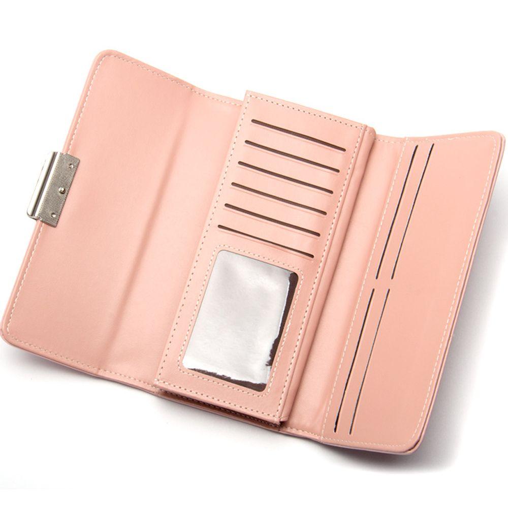 834428d1074 Women'S Wallet Long Three Fold Clutch Bag Sweet Simple Wallet Purse
