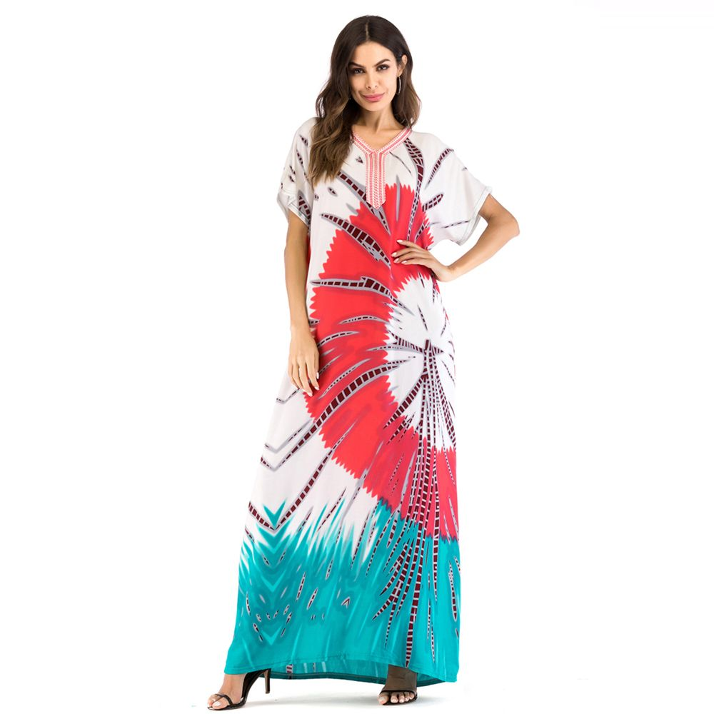 63faea00680 41% OFF  Comfortable Casual Floral Printing Long Summer Dress Middle ...