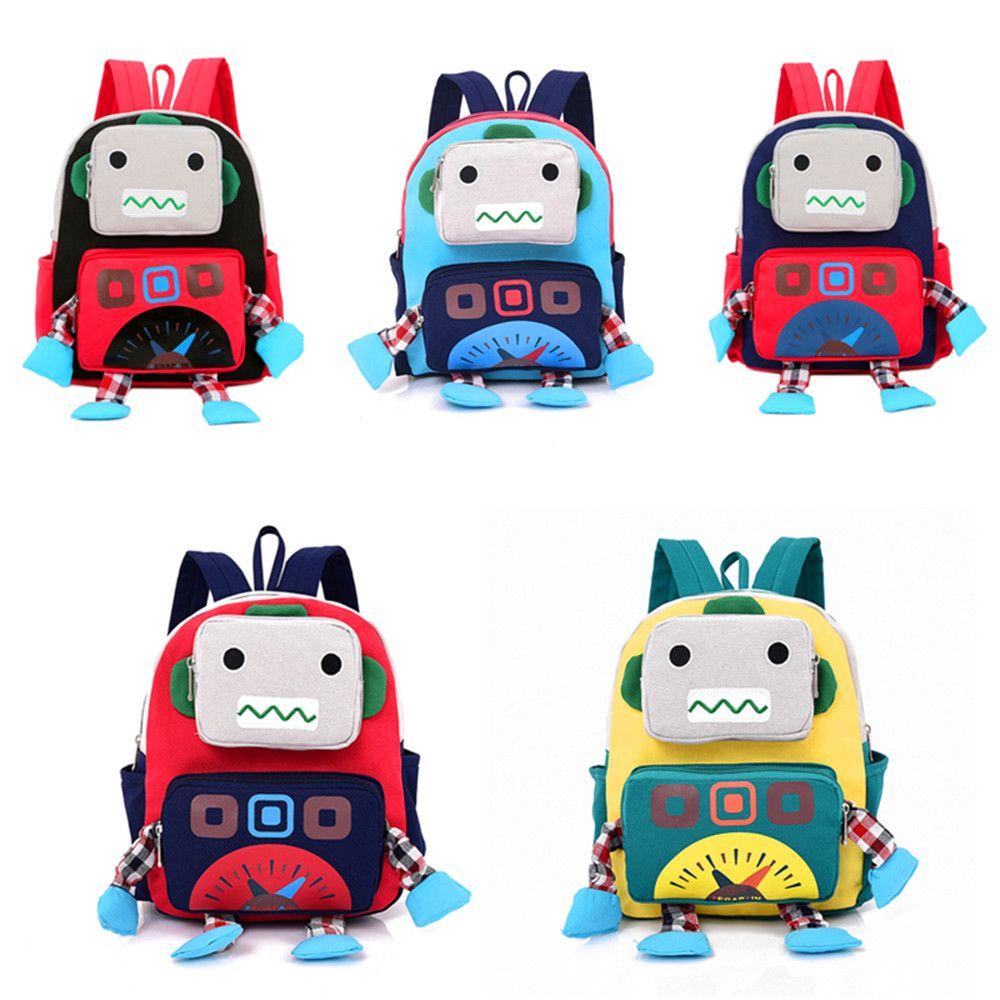 1cd9bce438 41% OFF   2018 Cartoon Robot Children Backpack In Yellow 26cm 10cm ...