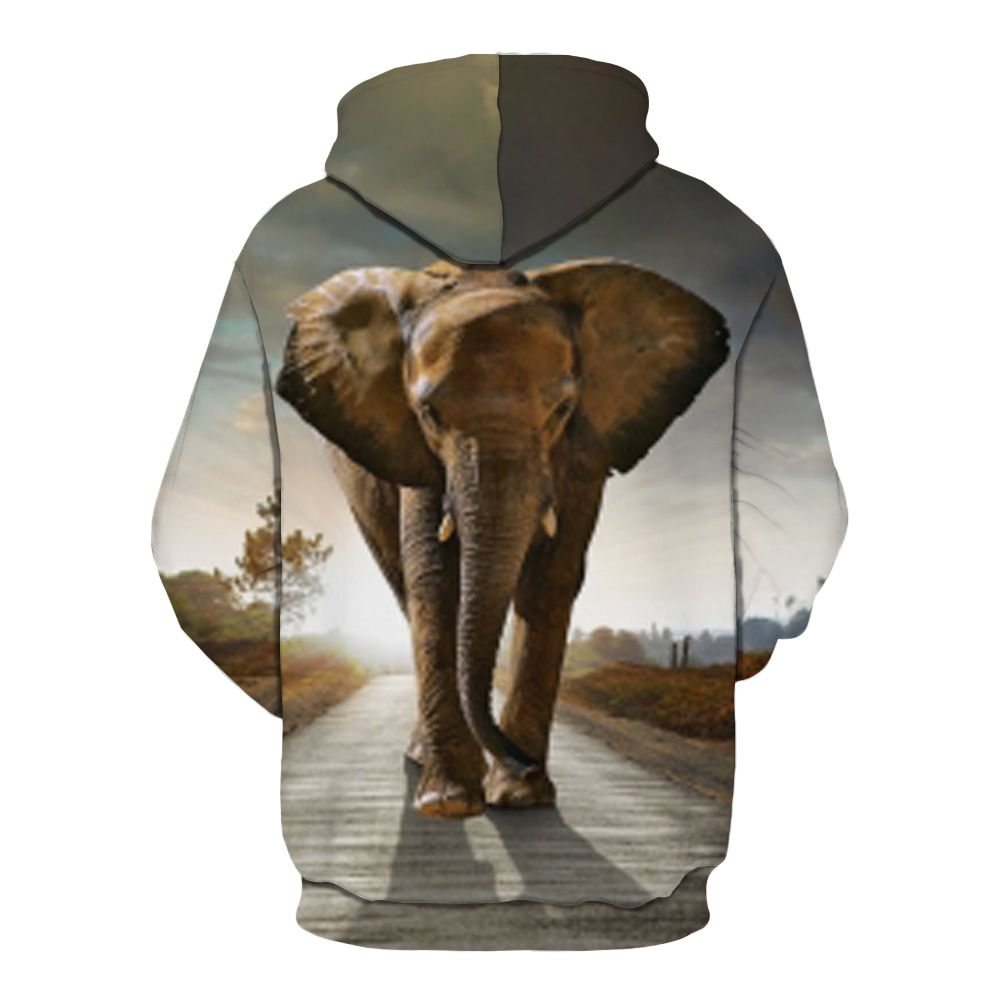 4c124c9b8fc2 2019 Explosive Men s 3d Printed Elephant Fashion Hoodie