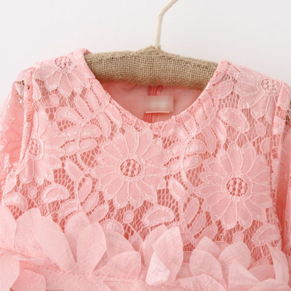 553faac4238 2019 Summer Brand Kids Dress Lace Style Long Sleeves Dress