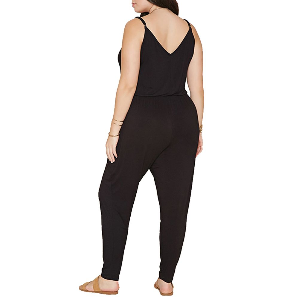f41ea6060ebba Summer Style Rompers Womens Jumpsuit Solid Plus Size Women Clothing 4XL 5XL  6XL