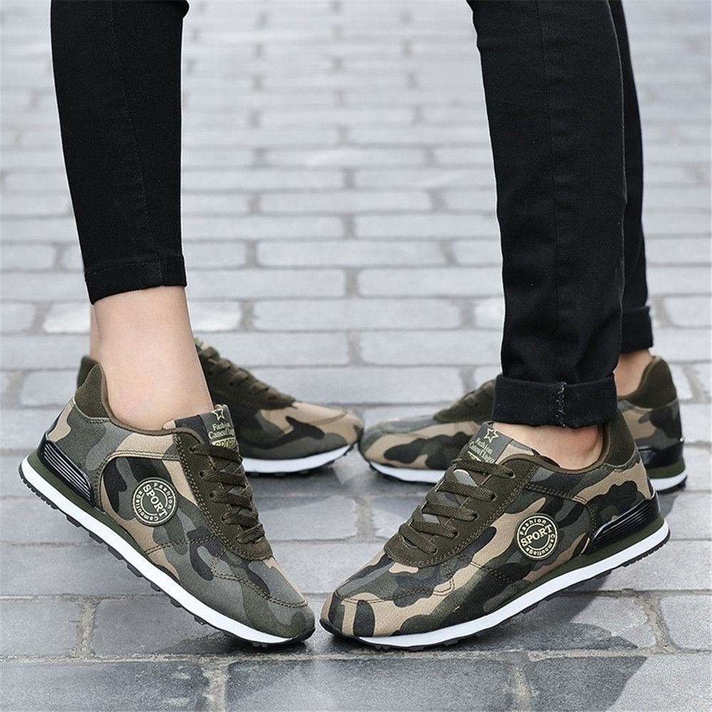 f291c3dd09264 Unisex Couples Camouflage Shoes Mens Comfortable Tennis Shoes Casual  Sneakers Sh