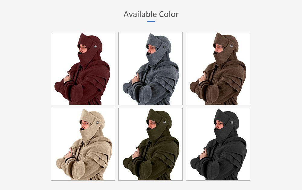 d978b0844c4 2019 Men s Hoodie Retro Elbows Drawstring Solid Color