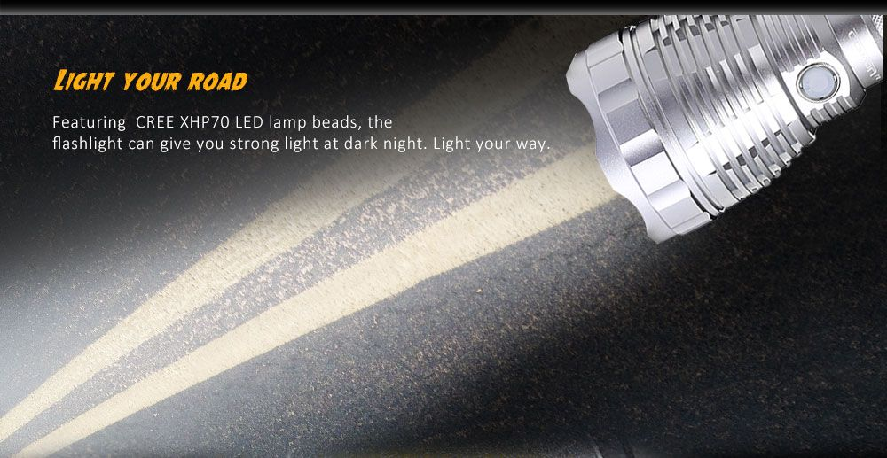 Convoy L6 3800LM Cree XHP70 N4 5000K 26650 LED Flashlight Searchlight Black New