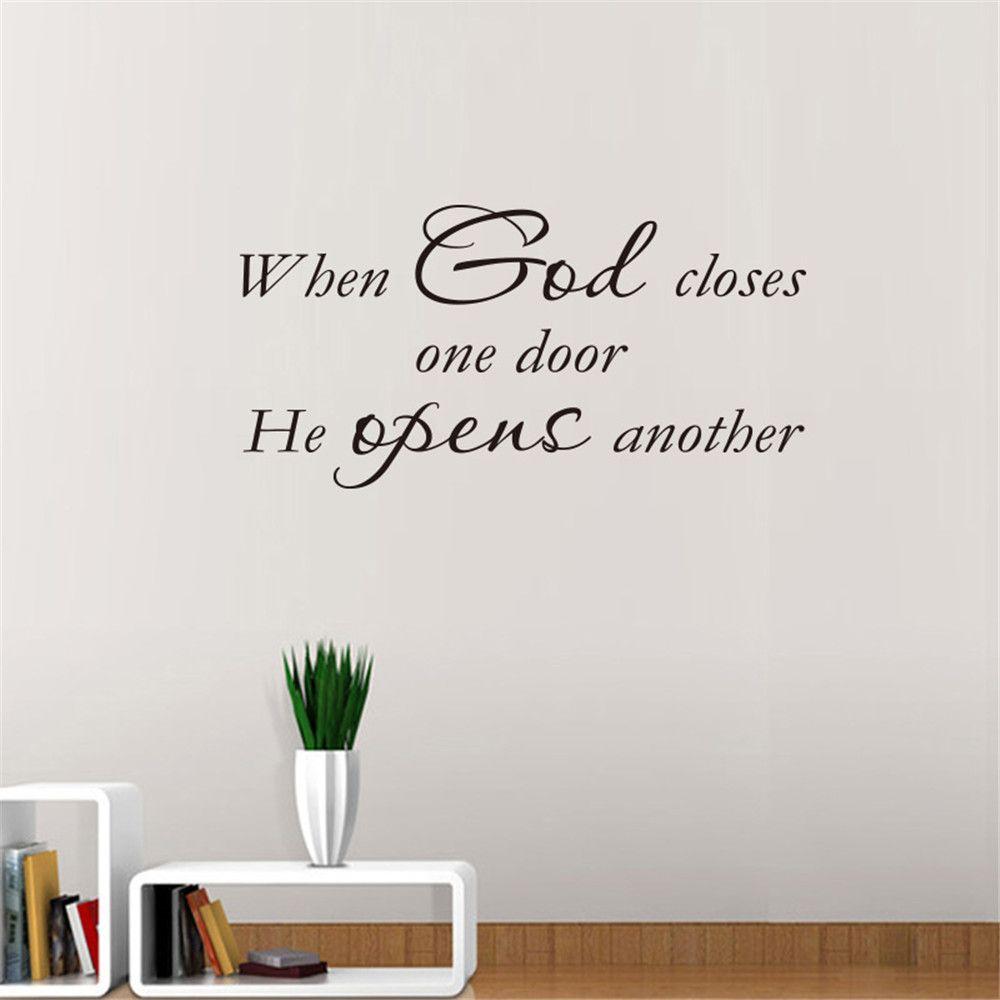 когда бог закрывает одну дверь виниловая роспись на дереве