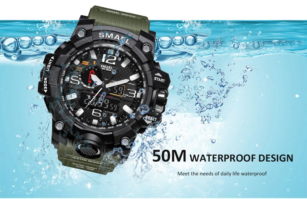 SMAEL 1545 Fashion Sports Multi-function Couple Popular Men Waterproof  Electronic Watch With Box