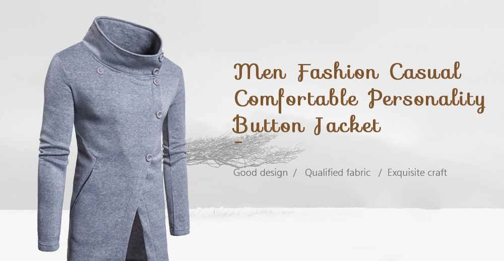 2019 Men Fashion Casual Comfortable Personality Button Jacket