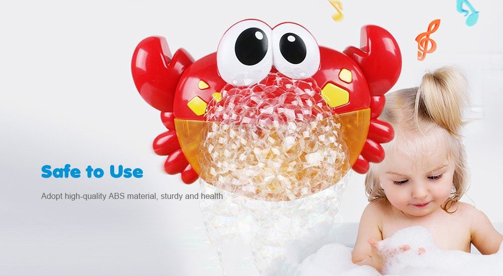 Crab Music Non-toxic Bathing Bubble-blowing Machine for Kids