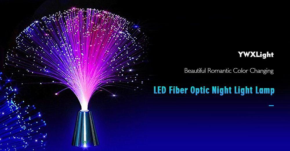 YWXLight Beautiful Romantic Color Changing LED Fiber Optic Night Light Lamp