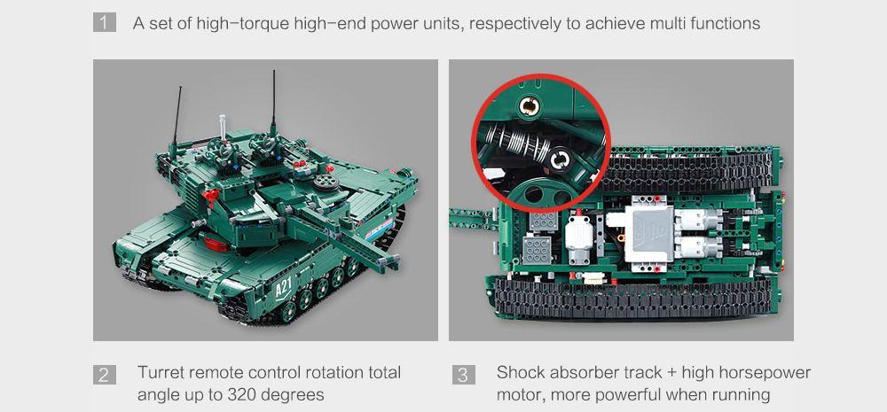 CaDA C61001W Blocks Tank Creative Toy