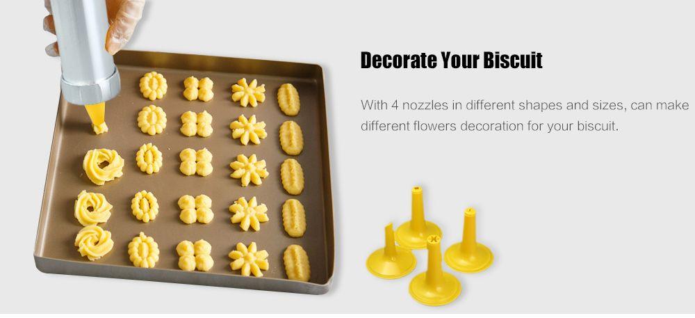 Press Cookie Machine Biscuit Maker Cake Decorating Gun Kitchen Tool 20 Moulds