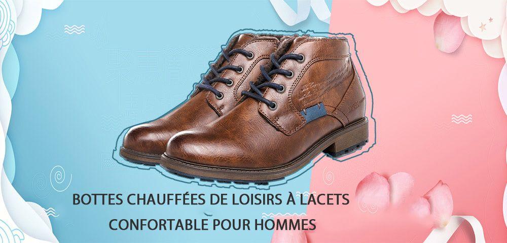 c34aed11376891 XPER Bottes à Lacets Loisirs Chaud Confortable Classique Pour Hommes ...