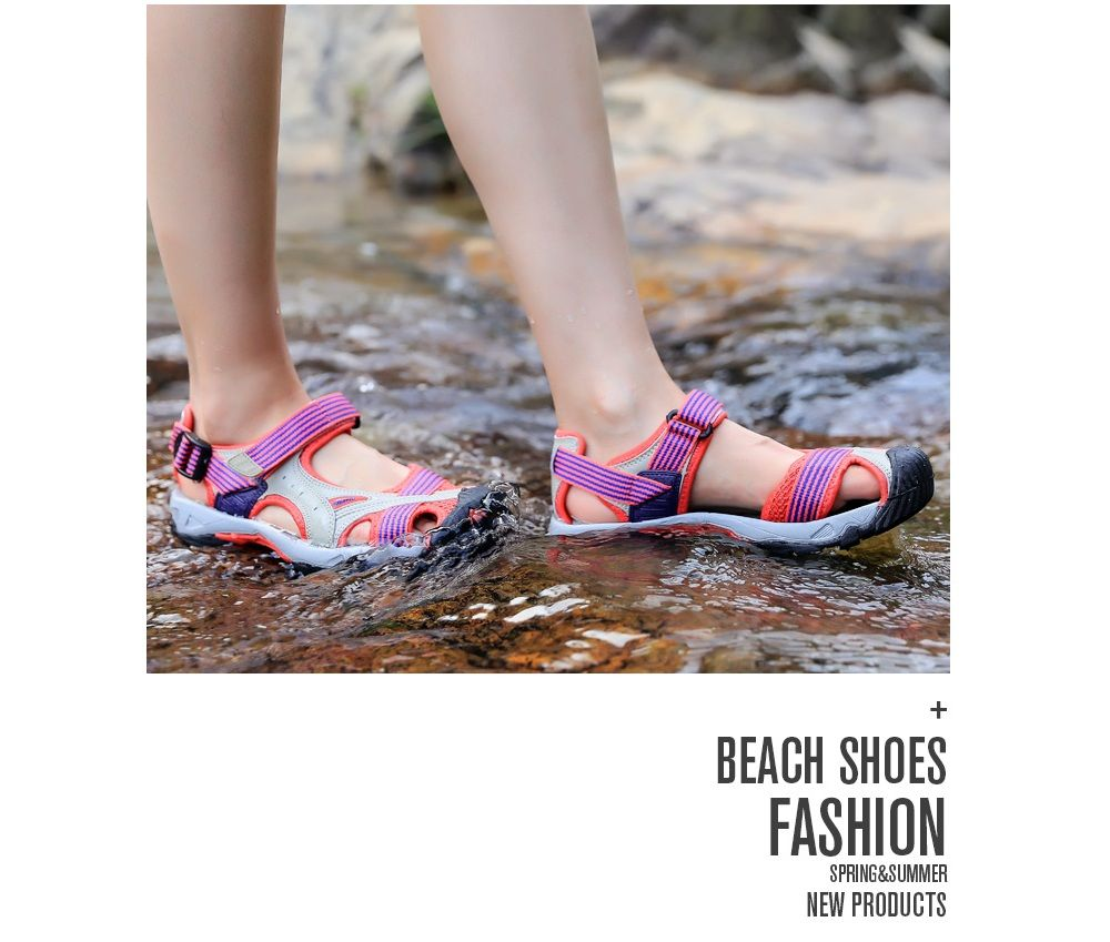 68ccc6d1f HUMTTO Outdoor Women  s Sandals Anti-collision Quick Drying Summer Beach  Shoes