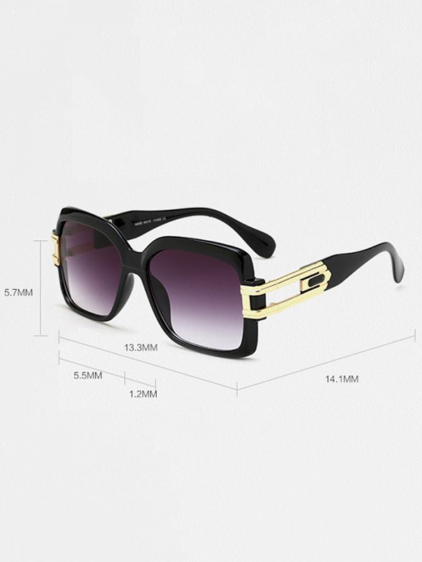 Oversize Hollow Cut Frame Gradient Lens Square Sunglasses